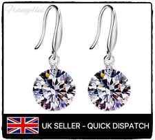 925 Sterling Silver Chandelier Drop Earrings CZ Cubic Zirconia, Gift Bag, Bridal