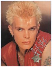 Sexy Billy Idol Autograph Signed Photo Picture Reprint 8x10 Pop Music Star NEW