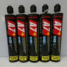 New listing Qty. 5 - Red Head A7+ Acrylic Anchor Adhesive 9.5 oz. See Description