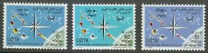 Libya 1965 MNH Sc 276-278 World Meteorological Day.Satellite.Space **