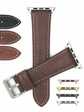 Genuine Leather Watch Strap for Apple Watch Band, Series 5 4 3 2 1, 42mm 44mm