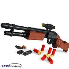 527pcs M870 Shotgun Gun Military Weapon Building Blocks DIY Toys Gift For Kids