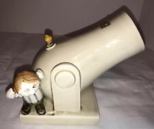 Vintage 1977 Fitz and Floyd, Inc. Boy with Cannon Matches/Pencils/Pen Holder