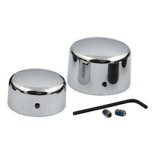 Chrome Rear Axle Covers for Harley-Davidson Softail & Dyna 2008 to 2015