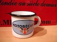 PLAQUE EMAILLEE TASSE cafe mug MOTOBECANE MOTO MOBYLETTE enameled sign