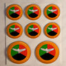 Pegatinas Zambia Escarapela 3D Pegatina Relieve Redondas Bandera Diana