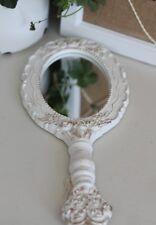 Clayre & FED, espejo, espejo de mano, crema-blanco, Shabby, Brocante, franske