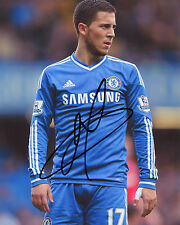 Eden Hazard Chelsea - - REIMPRESIÓN firmado autógrafo