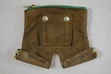 VINTAGE brown suede leather novelty leiderhosen purse wallet souvenir ST ANTON