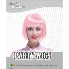 Perruques, extensions et matériel roses courte pour femme