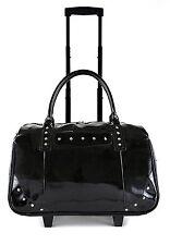 Patent 2-Wheel Computer/Laptop Rolling Bag Carry-On Trolley Tote Handbag (Black)