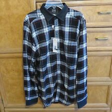 Men's Diesel long sleeve button down black wihte red plaid shirt size S NWT $178
