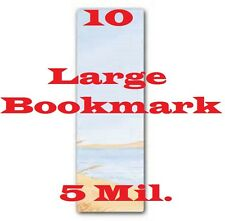 10 Bookmark Large Laminating Pouches Sheets 2-3/8 x 8-1/2 ,  5 Mil