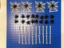 Lego  Halloween Lot Webs Spiders Bones
