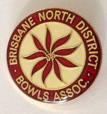 Brisbane North Bowling Association Club Pin Badge Vintage Lawn Bowls (L36)