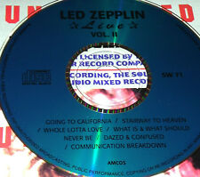 Led Zeppelin Live Vol. 2 CD Very Rare Jimmy Page Robert Plant Whole Lotta Love