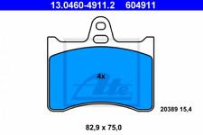 Bremsbelagsatz, Scheibenbremse für Bremsanlage Hinterachse ATE 13.0460-4911.2