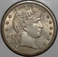 1903 Barber Quarter, Choice Uncirculated, Nice Bu Coin for Type 0321-19