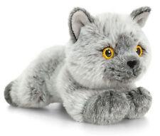 Plüschtier Kurzhaar Katze grau Kuscheltier Signature Kittens, Stofftier ca.30cm