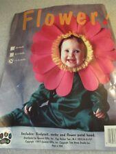 Tom Arma Infant Toddler Halloween Costume Plush Flower Jumpsuit Sz 12-18 Mos