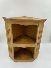 Chunky Wooden Rustic Vintage HANDMADE CORNER SHELF UNIT height 40 cm