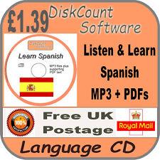 Listen & Learn Spanish Language Courses CD  mp3 audio & text