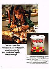 PUBLICITE ADVERTISING  1972    SOPALIN  essuie-tout