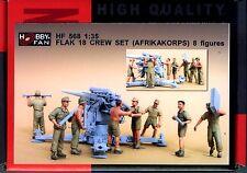 Hobby Fan 1/35 HF-568 WWII German Flak 18 Crew (Afrika Korps) - 8 Figures