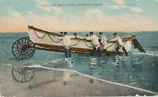 Atlantic City NJ * Life Boat and Crew in Water  1910