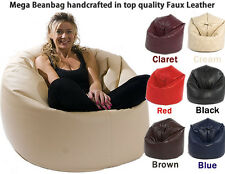 BROWN MEGA SIZE FILLED BEANBAG BEAN BAG GAMER CHAIR