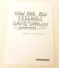 David Shrigley - How are you feeling?    2013 ART EXHIBITION GUIDE / FLYER