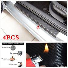 4Pcs Carbon Fiber Look Car Door Plate Sill Scuff Cover Anti Scratch Sticker Nice