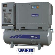 Viti COMPRESSORE HERTZ HGS 15 - 15kw 2,20 m³/min su contenitore con asciugatrice