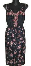 NWOT Ladies Plus Size 18 20 22 24 26 28 Sleeveless Polyester Floral Frock Dress