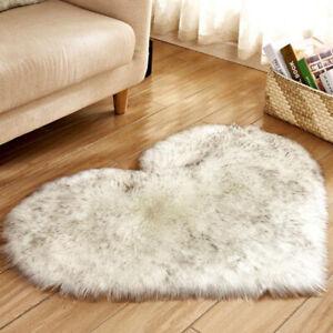 Soft Rug Small Fluffy Plain Mats Bedroom Rugs Washable Shaggy Home Decor Carpets