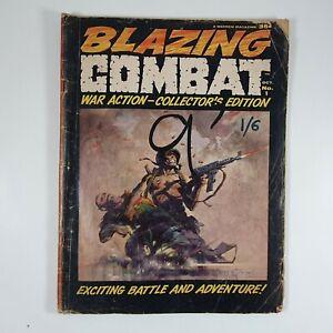 Blazing Combat Oct No 1 War Action Collectors Edition Warren 1965
