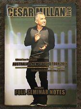 Cesar Millan Live Official Tour Programme Australia 2011