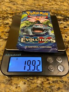 19.92g HEAVY 🧱 - Factory SEALED - XY Evolutions Booster Pack - Pokemon TCG