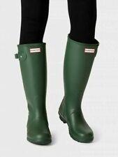 Hunter Women's Original Tall Matte Waterproof Rain Boots Green, Pick A Size NEW