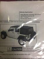 Bestop 52509-15 Bikini Tops Strapless Black Denim fits 1986-1991 Jeep Wrangler