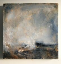 Large Acrylic Painting on canvas, Impressionist Seascape. J Smith