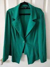 City Chic Forest Green Pleated Blazer Jacket Size XS