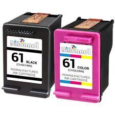 2-PK For HP 61 Black & Color Ink Cartridges For Deskjet 1000 1050 1051 2050