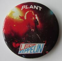 ROBERT PLANT LED ZEPPELIN LARGE VINTAGE METAL PIN BADGE FROM THE 1970's