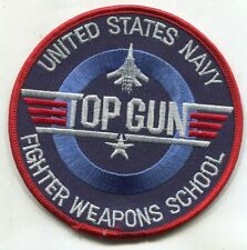 US Navy Top Gun Fighter Weapons School Patch 4 inches wide