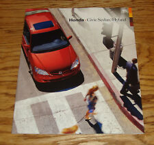 Original 2005 Honda Civic Sedan & Hybrid Deluxe Sales Brochure 05