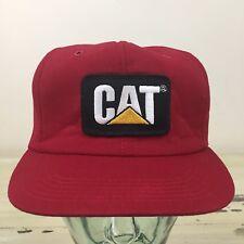 CATERPILLAR - Vtg Red SnapBack Farm Diesel Tractor Hat Cap - MUST SEE!