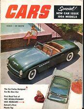 Cars Magazine March 1954 Mercury Farina GD 060617nonjhe