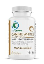 Canine Whites All Natural by VITAGLOBAL Tooth Health for Dogs 60 Tablets