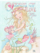 Mary Engelbreit-Oceans Of Love For You Mermaid Seahorse-Note Card-New!